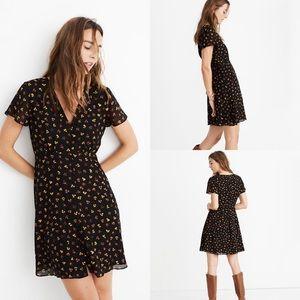 🆕 Madewell silk button-front swing dress